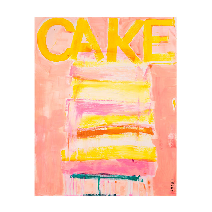Great Cake Art Print