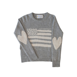 Love Has No Color Flag Cashmere Sweater Grey