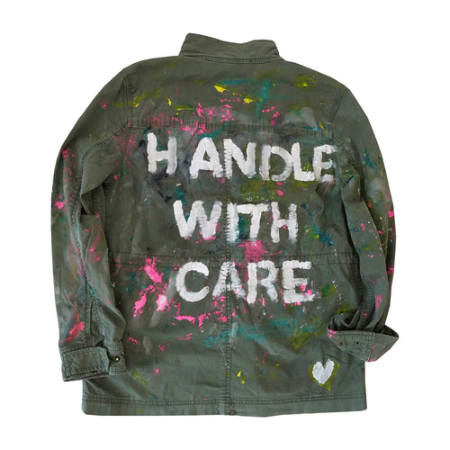 HANDLE WITH CARE ARMY JACKET