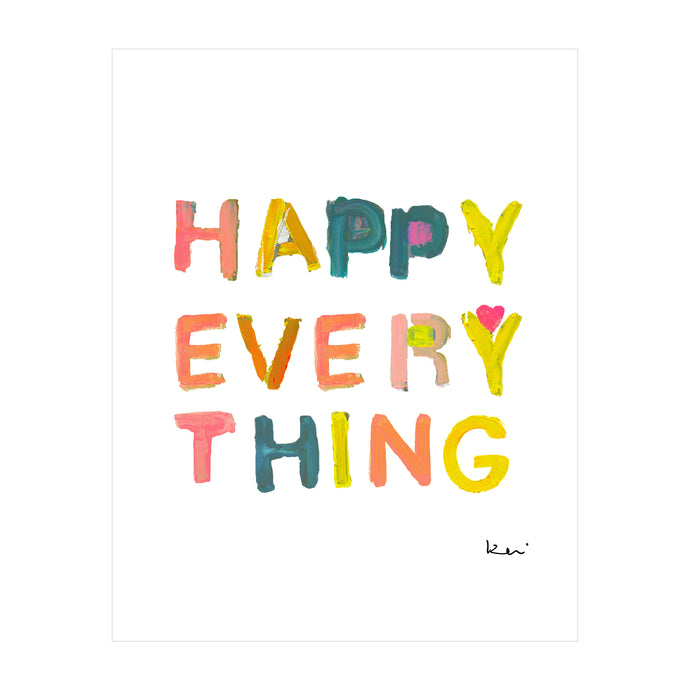 Happy Everything Mini Art Print