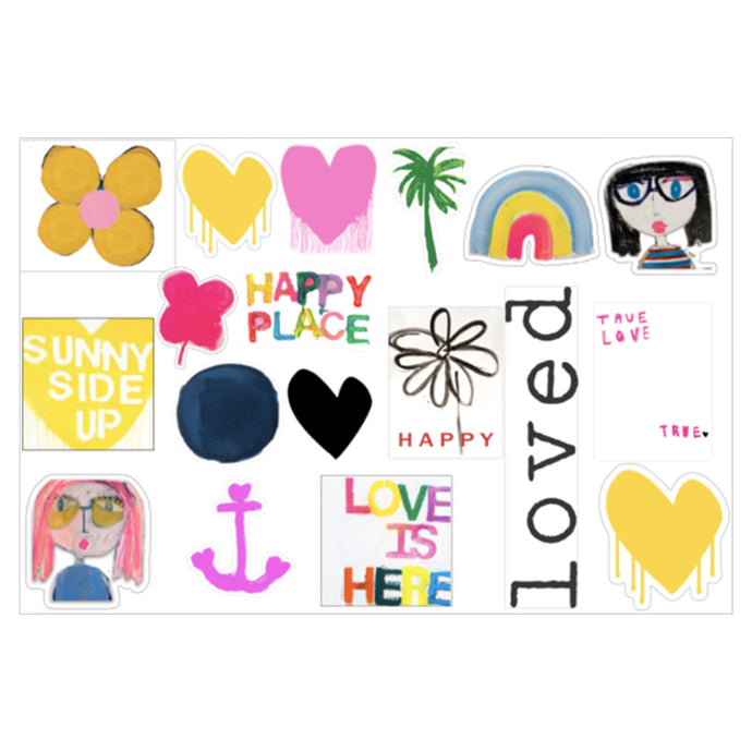 HAPPY PLACE STICKER SHEET