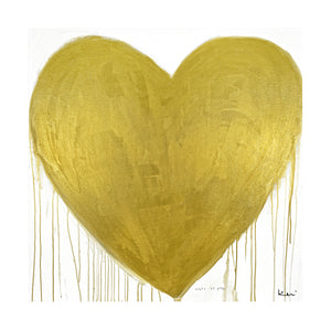 Heart Of Gold Drippy Heart Art Print