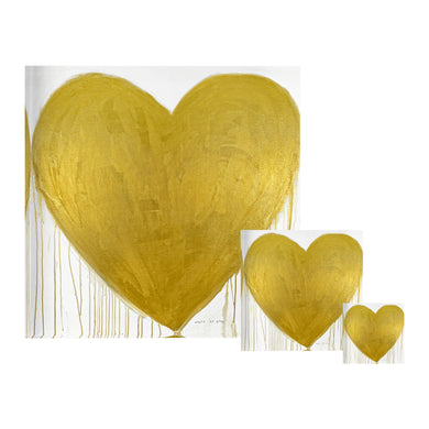Heart of Gold Drippy Heart Block of Love