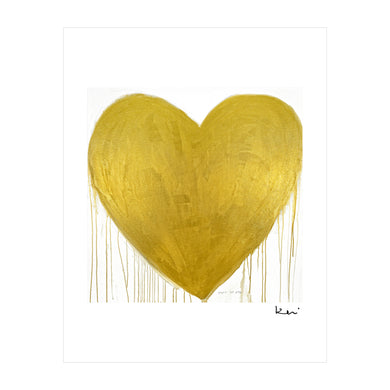 Heart Of Gold Mini Art Print