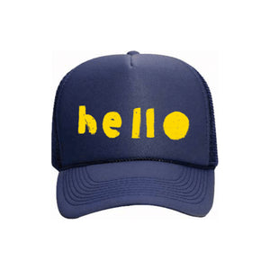 Hello Trucker Hat Navy