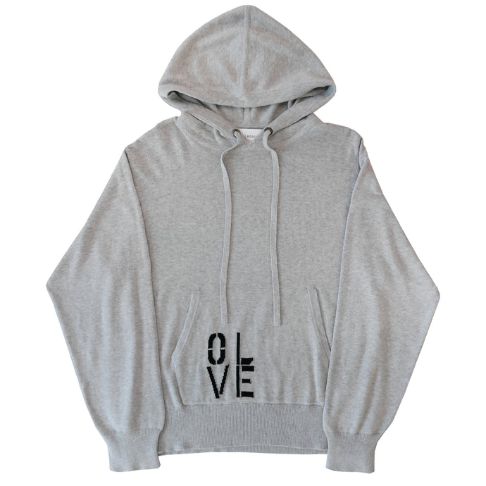 Oversized Cotton/Cashmere Hoodie - Olive You