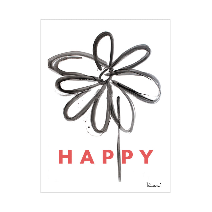 Happy Daisy Mini Art Print