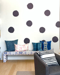 Big Dots Carbon Paperless Wallpaper (6 per pack)