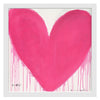 In My Heart Drippy Heart Art Print