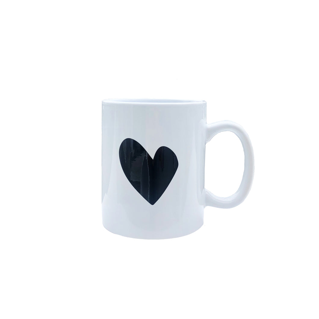 Imperfect Heart Mug - Carbon