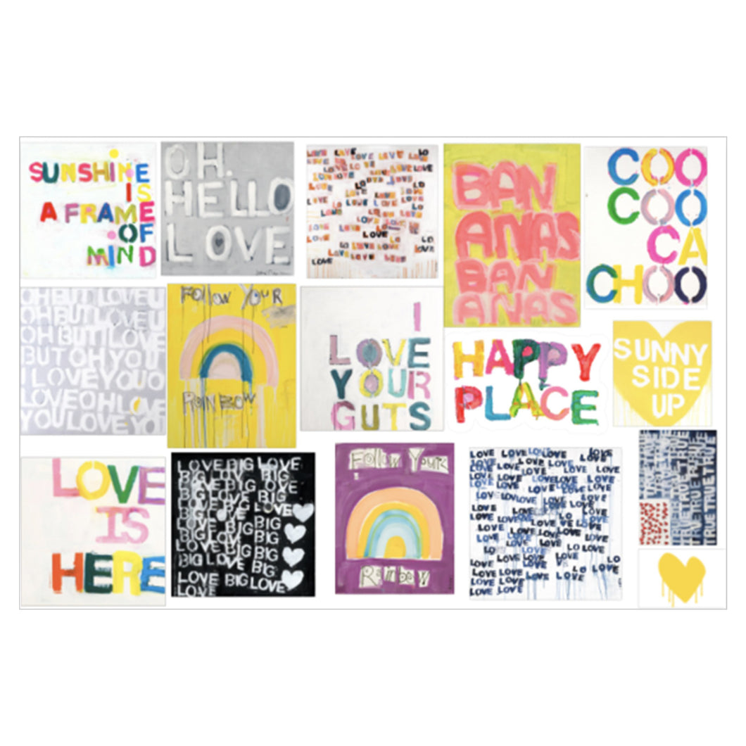 KR WORDS STICKER SHEET