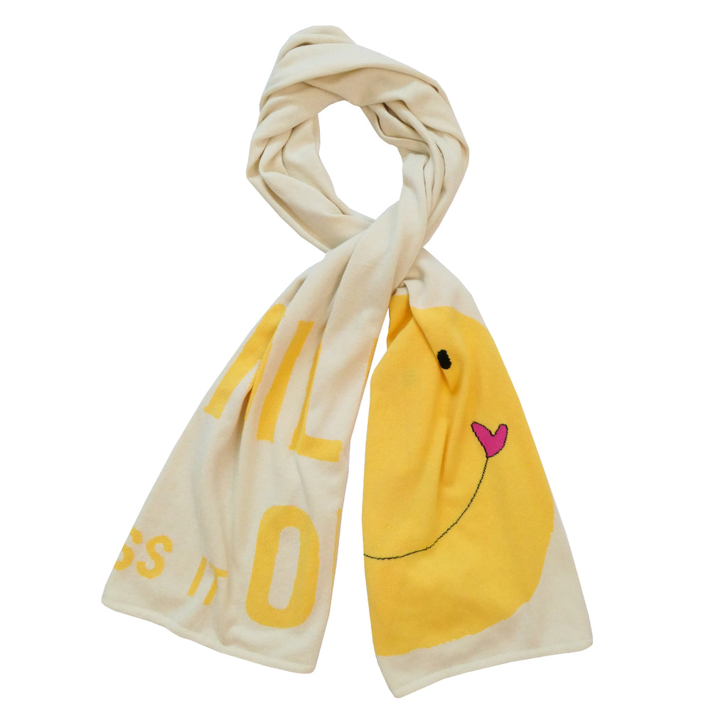 KR x Anthropologie Smile Scarf - Ivory