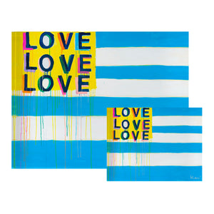 Love American Style Flag Block of Love