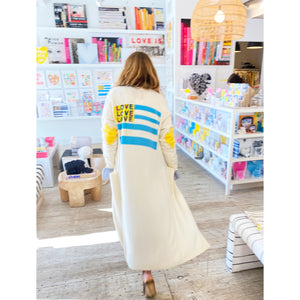 Love American Style Super Long Cashmere Cardigan