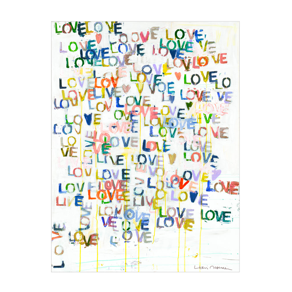 Love + Goodnight Art Print