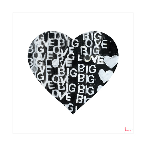 Love Big Love Inside Out Art Print