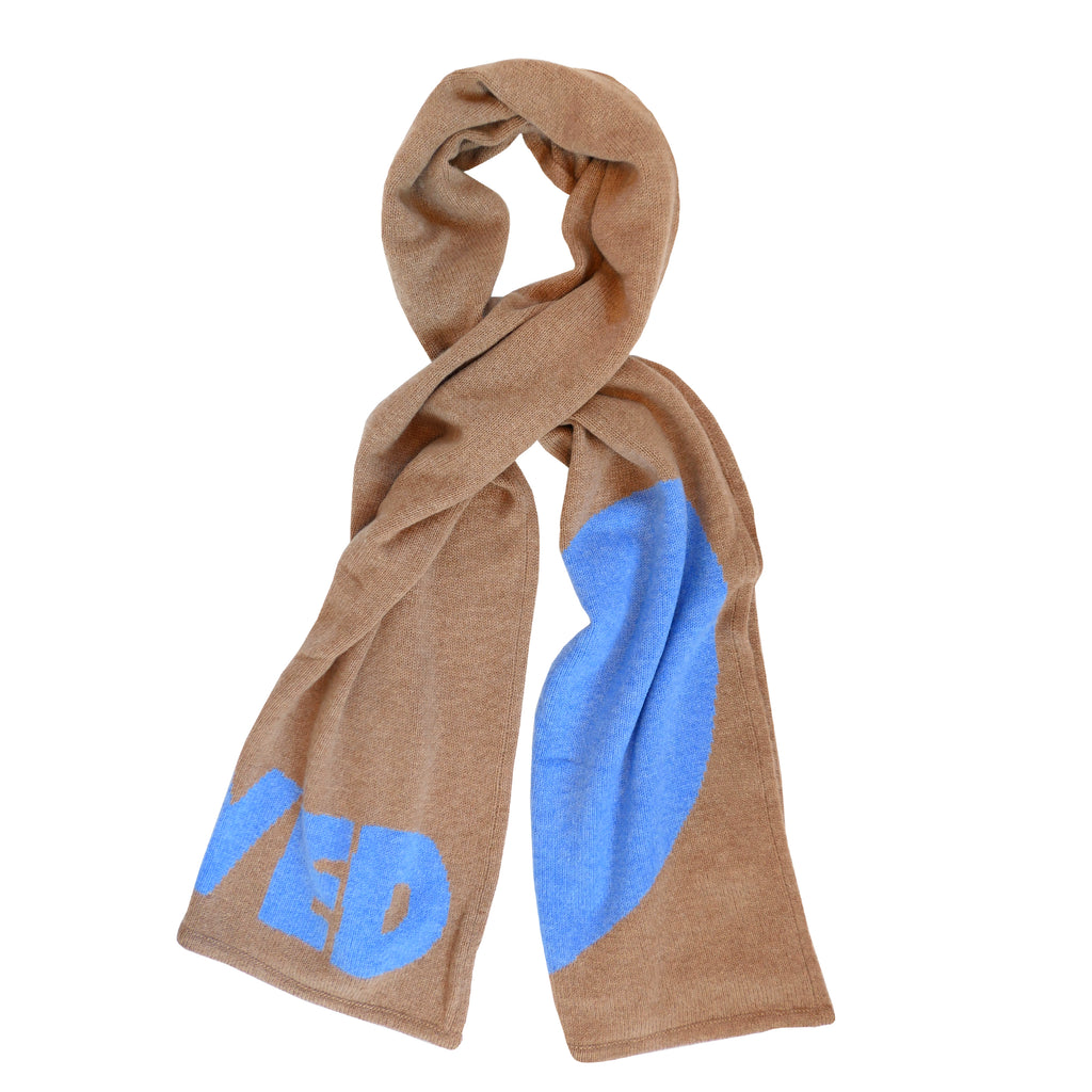 Loved Cashmere Scarf- Bronze + Blueberry