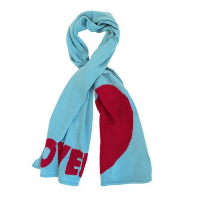 Loved Cashmere Scarf- Denim + Burgundy