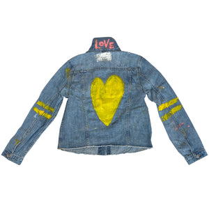 Love Handpainted Denim Jacket