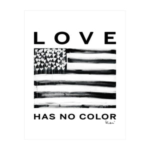 Love Has No Color Mini Art Print