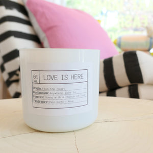 Big Love Is Here Candle