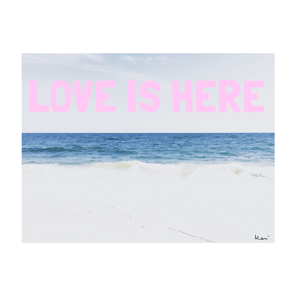Love Is Here Beach Horizontal Art Print