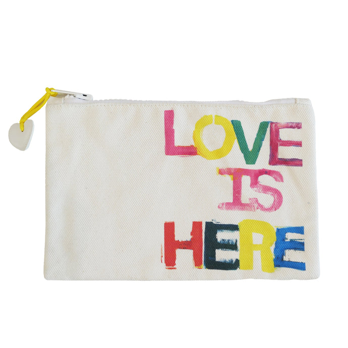 KR Canvas Pouch - Love Is Here