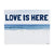 Love Is Here Beach - Navy Horizontal Art Print