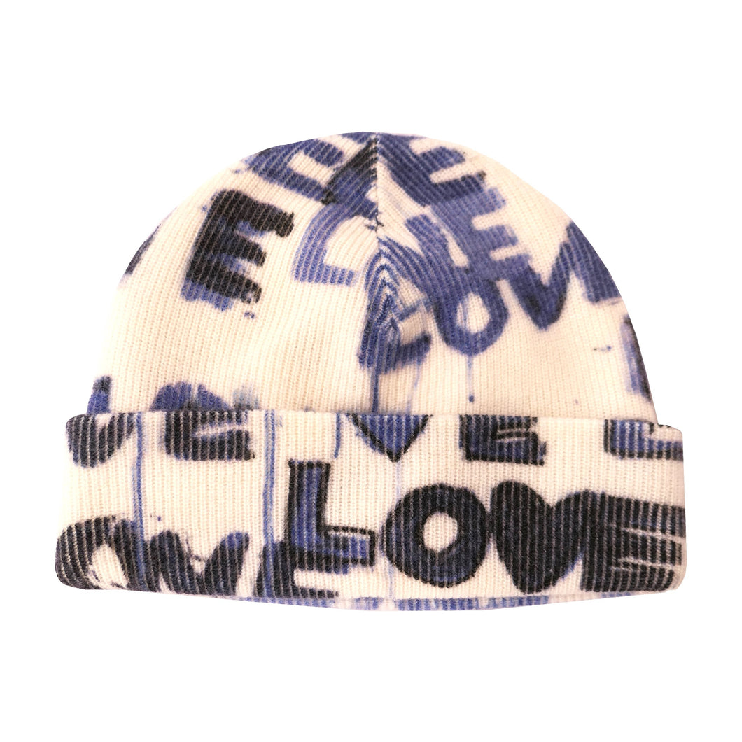 Cashmere Beanie -  Love Letter Blues