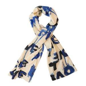 Cashmere Scarf - Love Letter Blues
