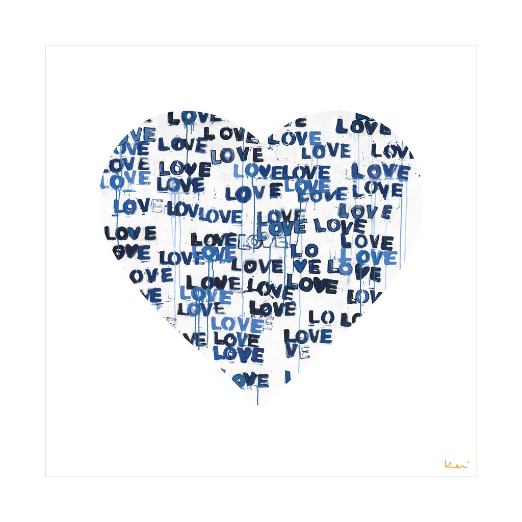Love Letters Blues Inside Out Art Print
