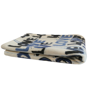 Love Letter Blues Cashmere Blanket