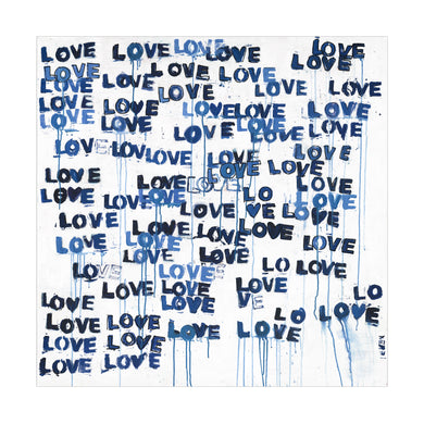Love Letters Blues Art Print
