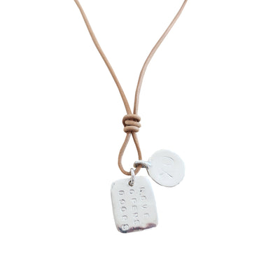 Love Opens Doors XO Necklace - Sterling Silver