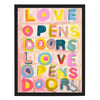 L.O.D. Love Opens Doors Art Print
