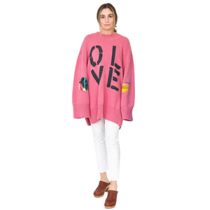 Maggie Oversized Tunic - Dusty Rose