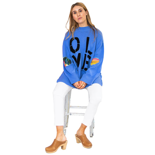 Maggie Oversized Tunic - Periwinkle