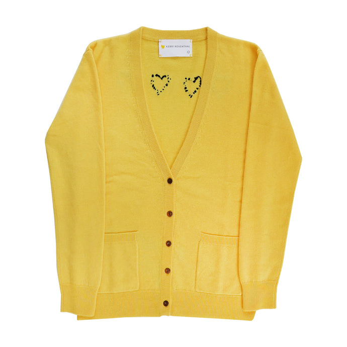 The Melvin Cashmere Cardigan - Sunflower Work Of Heart