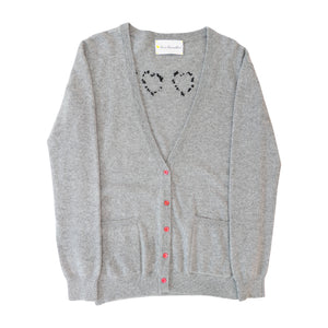 The Melvin Cashmere Cardigan - Grey Work Of Heart