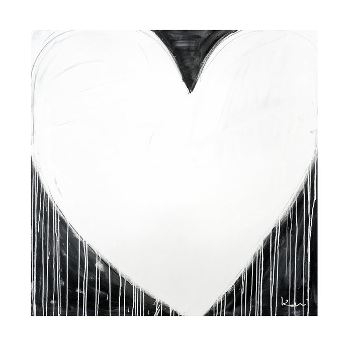 Modern Love Drippy Heart Art Print