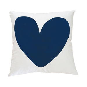My Heart Indigo Pillow