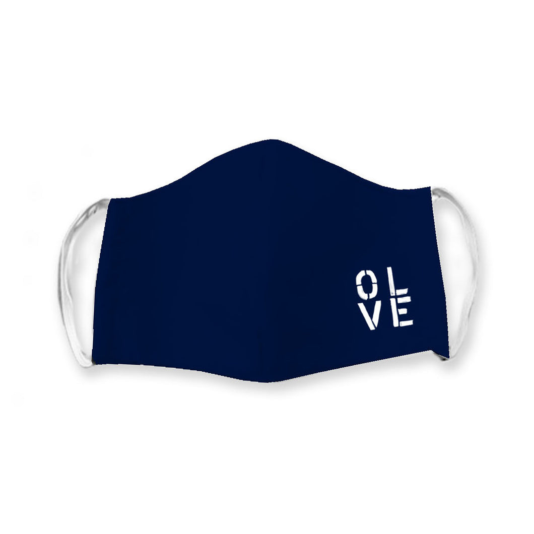 Olive You Navy Face Cover