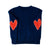 Patchwork Love Cashmere - Navy + Red