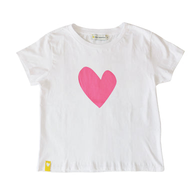 Imperfect Heart Tee Shirt - Neon Pink