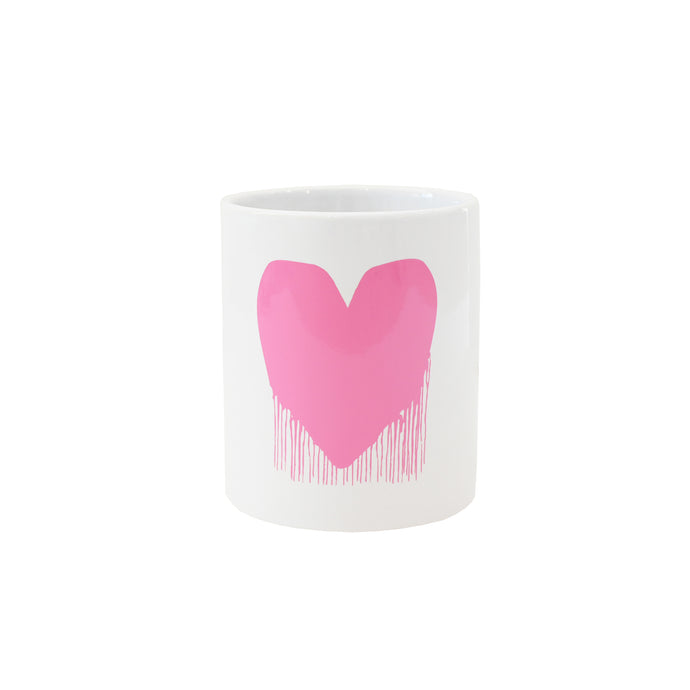 Drippy Heart Mug - Pink