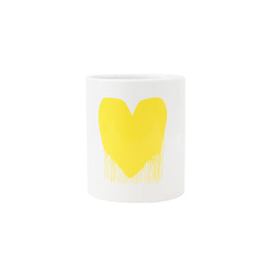 Drippy Heart Mug 20oz - Yellow