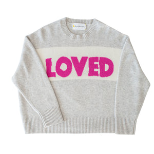 Bold Love Boxy Cashmere Pullover - Pop Pink