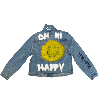 Oh Hi Handpainted Denim Jacket