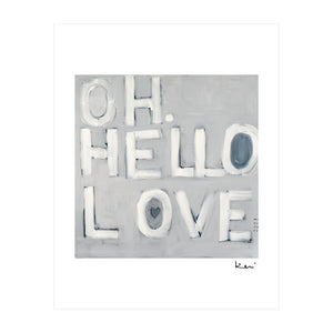 Oh Hello Love Mini Art Print