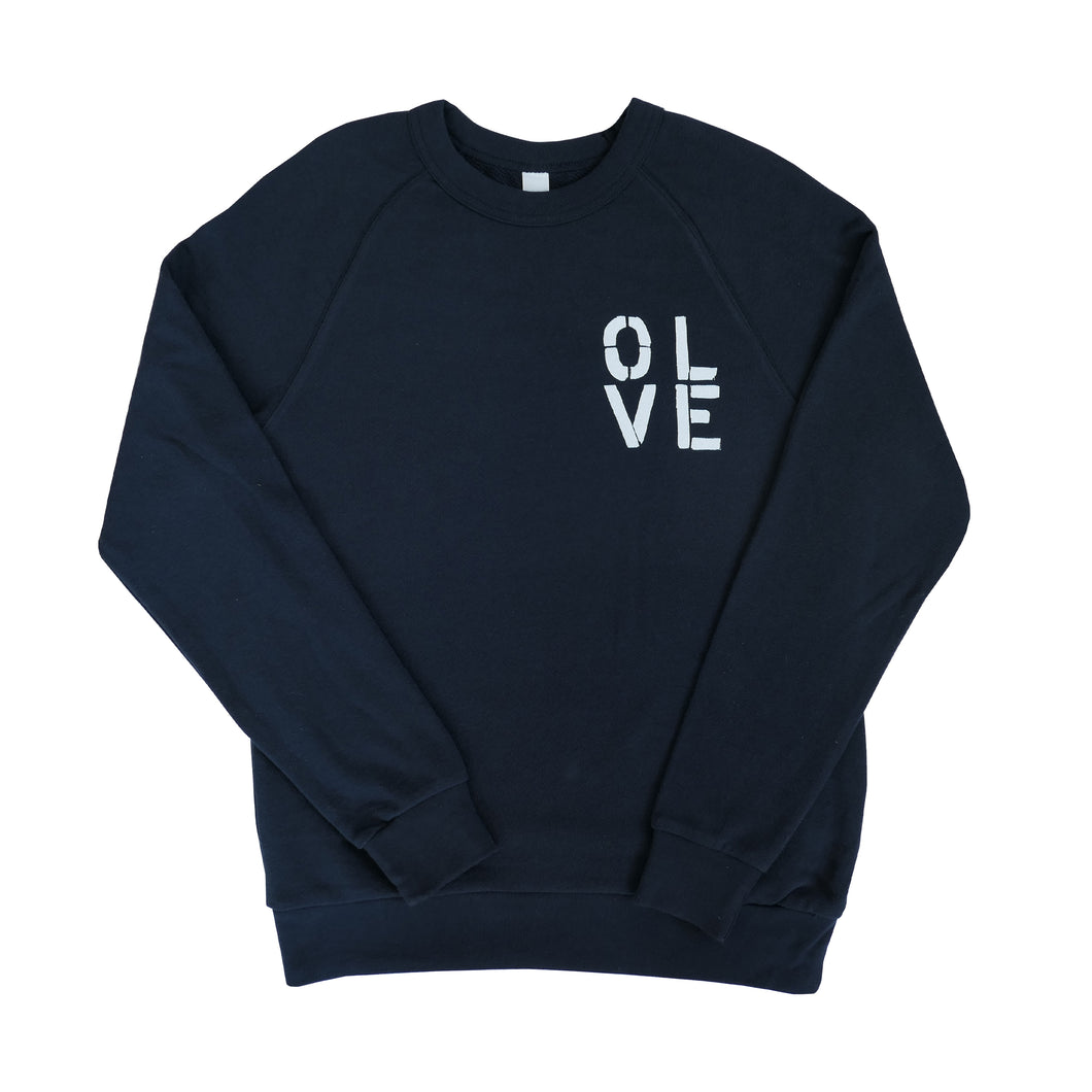 Olive You Navy Sweatshirt